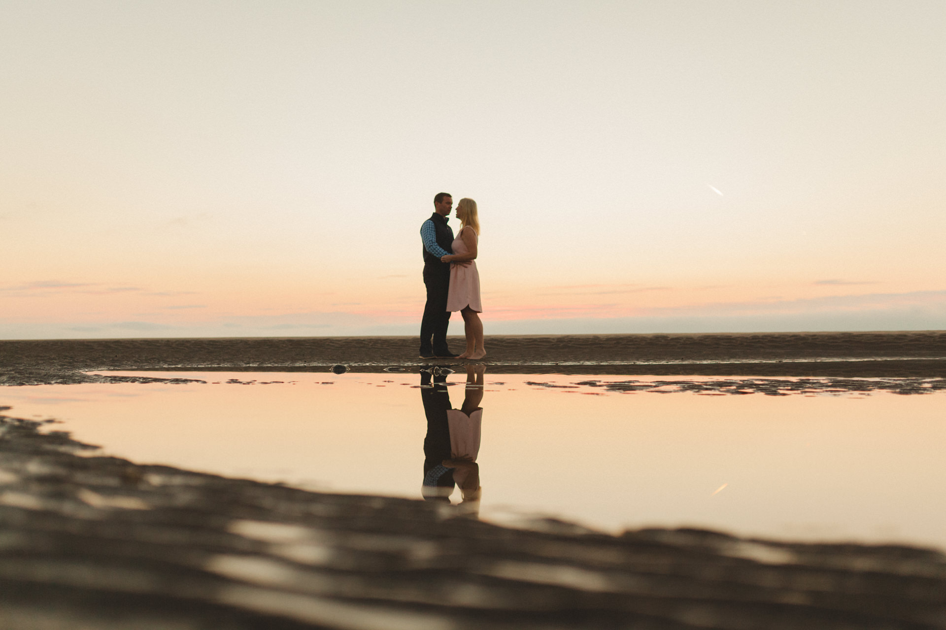 Portmarnock beach engagement session 6