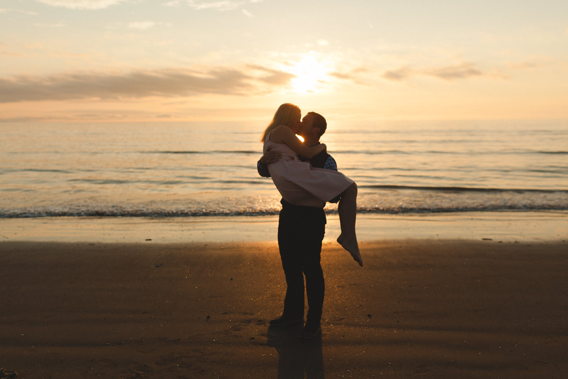 Portmarnock beach engagement session 4